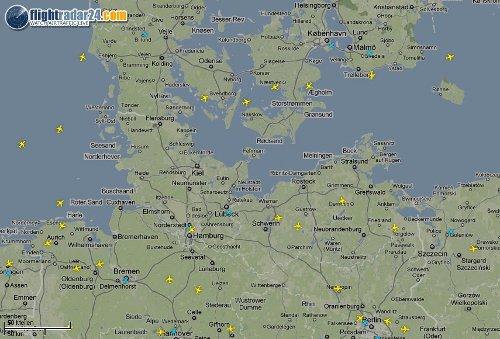 Flugradar für Norddeutschland