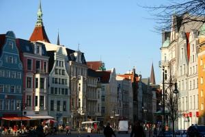 Rostock Universtätsplatz Richtung Neuer Markt